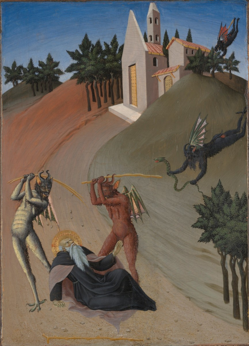 Saint Anthony Abbot Tormented by Demons, Sano di Pietro. (Photo: Yale University Art Gallery)