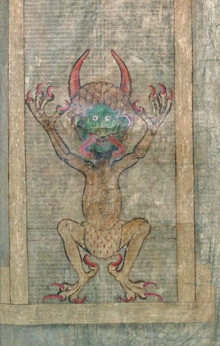 Illustration of the devil. (Photo: National Library of Sweden)