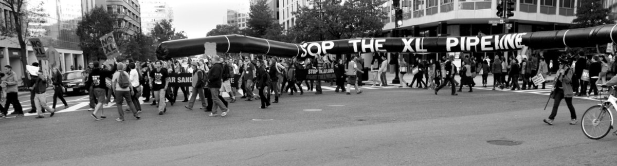 Keystone XL pipeline protest at the White House. (Photo: tarsandsaction/Flickr)