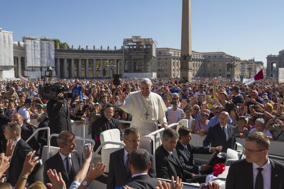 Pope Francis in Rome. (Photo: Iacopo Guidi/Shutterstock)
