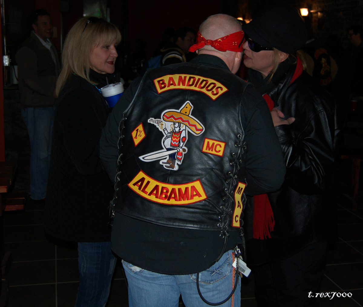 A member of the Bandidos Motorcycle Club's Alabama branch. (Photo: Tony/Flickr)