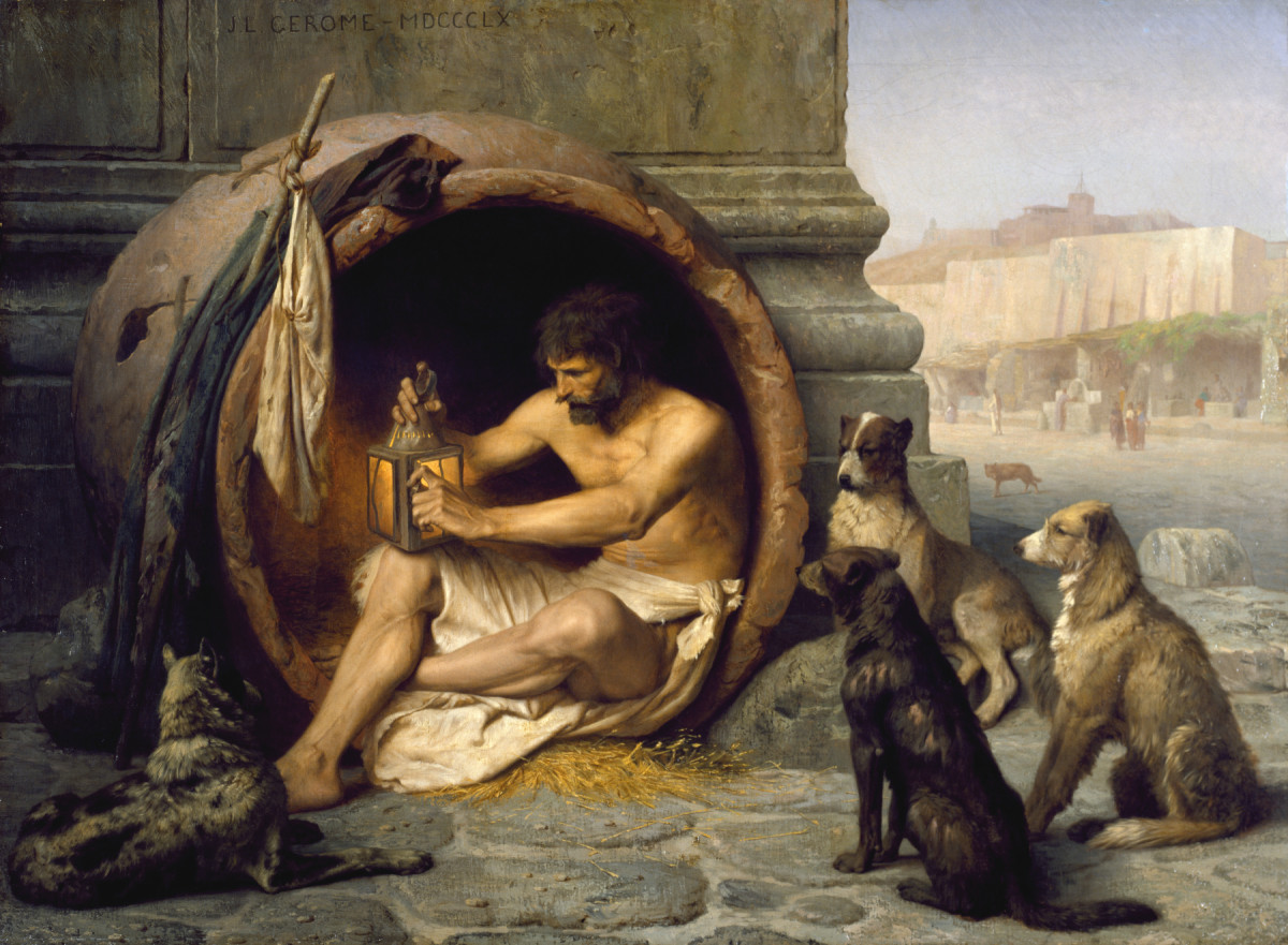 Diogenes of Sinope as depicted by Jean-Léon Gérôme. (Photo: Public Domain)