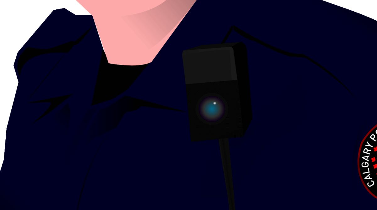 A computer-generated rendering of a typical body-worn camera. (Illustration: Throwawaysixtynine/Wikimedia Commons)
