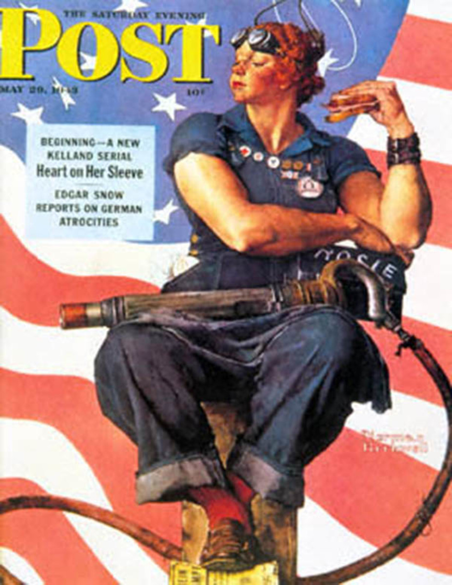 Norman Rockwell's version of Rosie the Riveter. (Photo: The Saturday Evening Post)