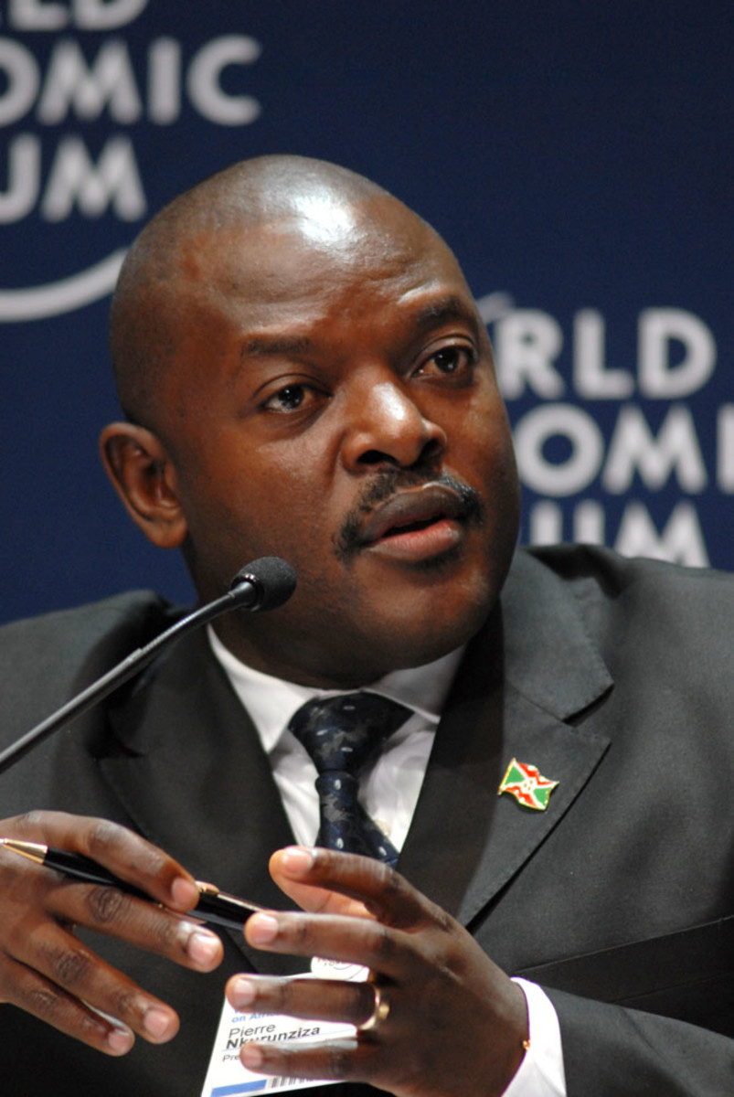 Pierre Nkurunziza, president of Burundi. (Photo: Eric Miller/World Economic Forum)