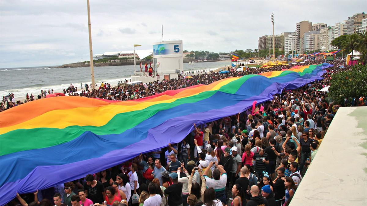 An LGBT pride parade in Rio de Janeiro, Brazil. (Photo: alobos Life/Flickr)