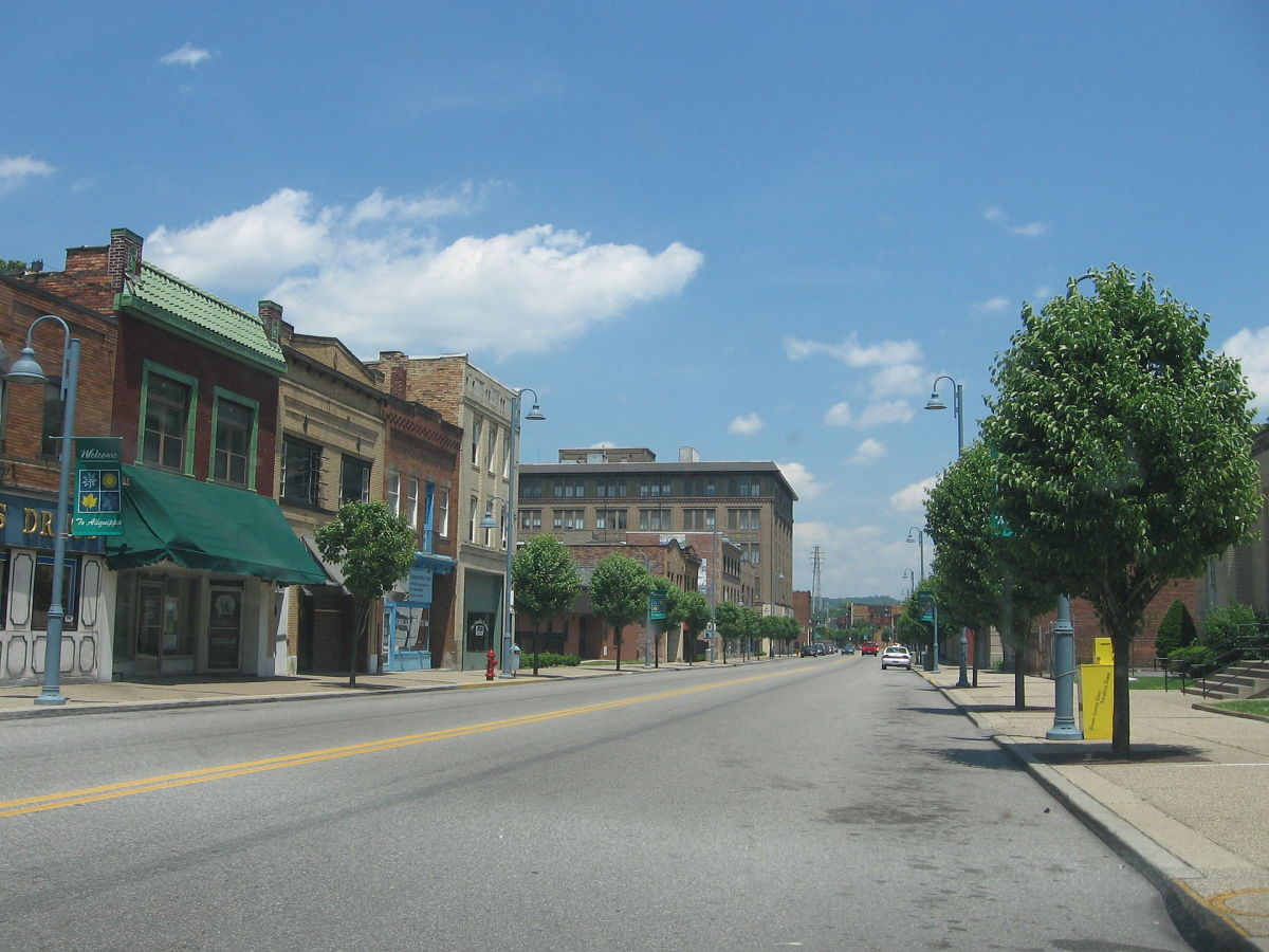 Downtown Aliquippa, Pennsylvania. (Photo: Public Domain)