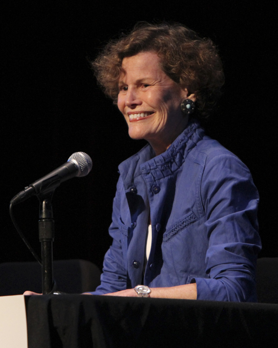 Judy  Blume makes an appearance at the 2012 Los Angeles Times Festival of  Books on April 21, 2012. (Photo: Brad Camembert/Shutterstock)