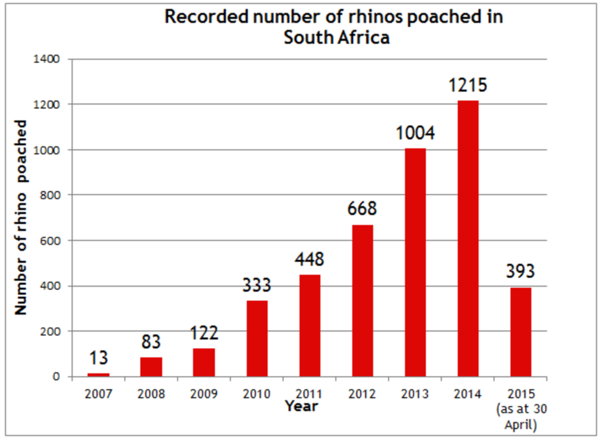 Data compiled by the South African Department of Environmental Affairs. (Graph: Save the Rhino)