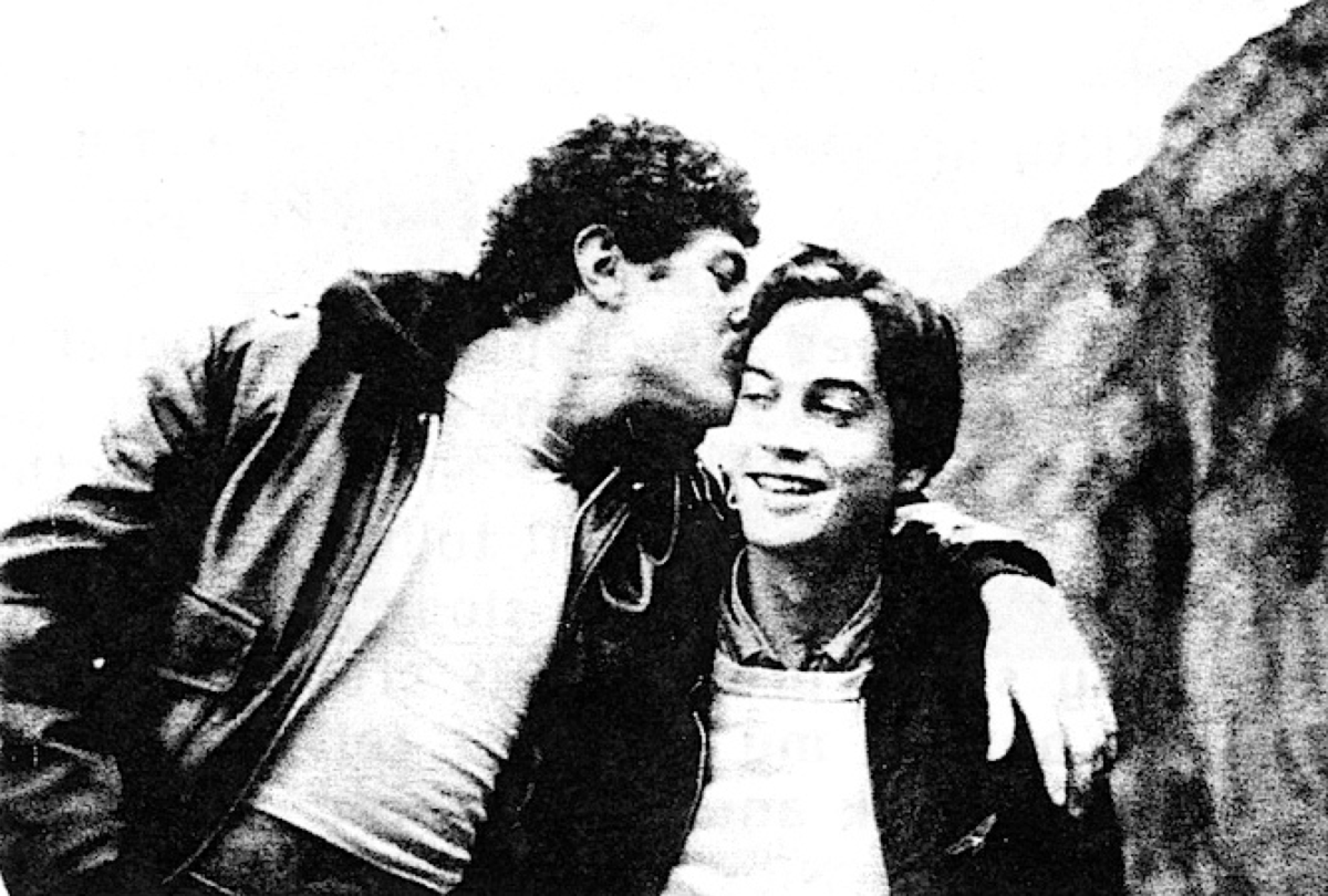 Qalbee (left) and the author in the early 1980s. (Photo: Joe Westmoreland)