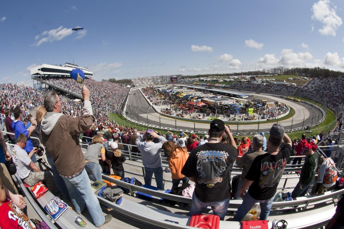 NASCAR fans in Martinsville, Virginia.