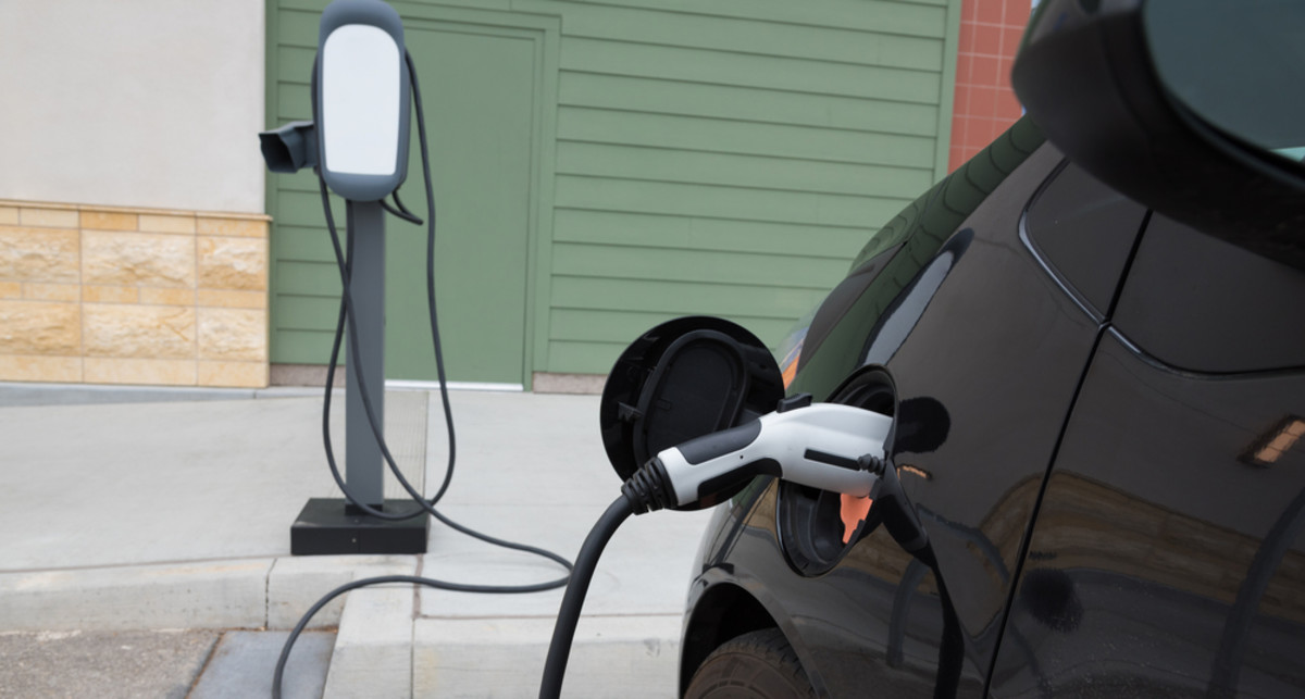 An electric car charging in California. (Photo: Mike Flippo/Shutterstock)