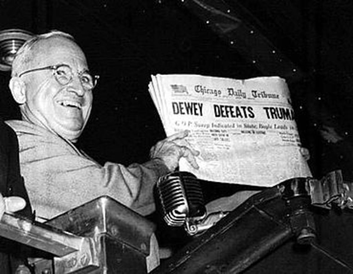 Harry Truman was so widely expected to lose the 1948 election that the Chicago Tribune had printed papers with this incorrect headline before all the returns were in. (Photo: Byron Rollins/Associated Press)