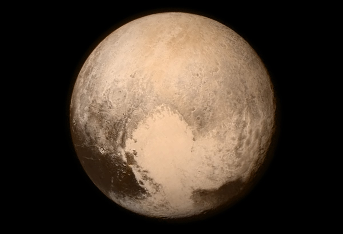 Photo of Pluto taken from 476,000 miles away. (Photo: JHU/NASA)