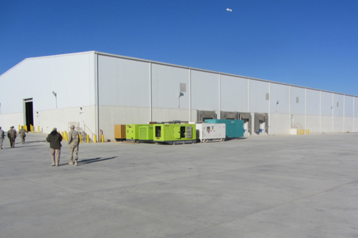 The construction project included four warehouses, like the one above, and an administrative building. (Photo: Special Inspector General for Afghanistan Reconstruction)