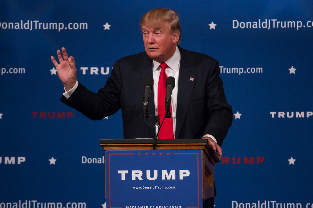 Donald Trump speaking in Des Moines, Iowa hours after declaring as a Republican candidate for president. (Photo: John Pemble/Flickr)