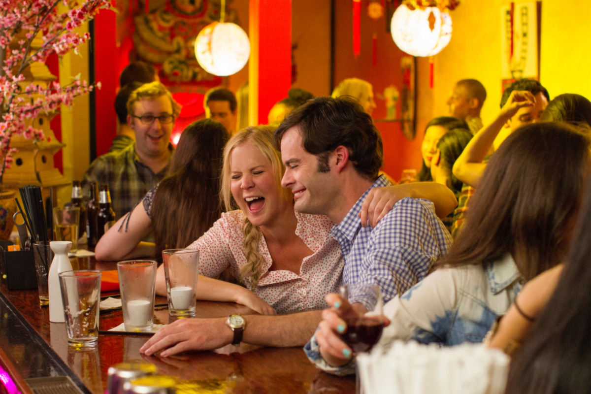 Amy Schumer and Bill Hader in Trainwreck. (Photo: Universal Pictures)