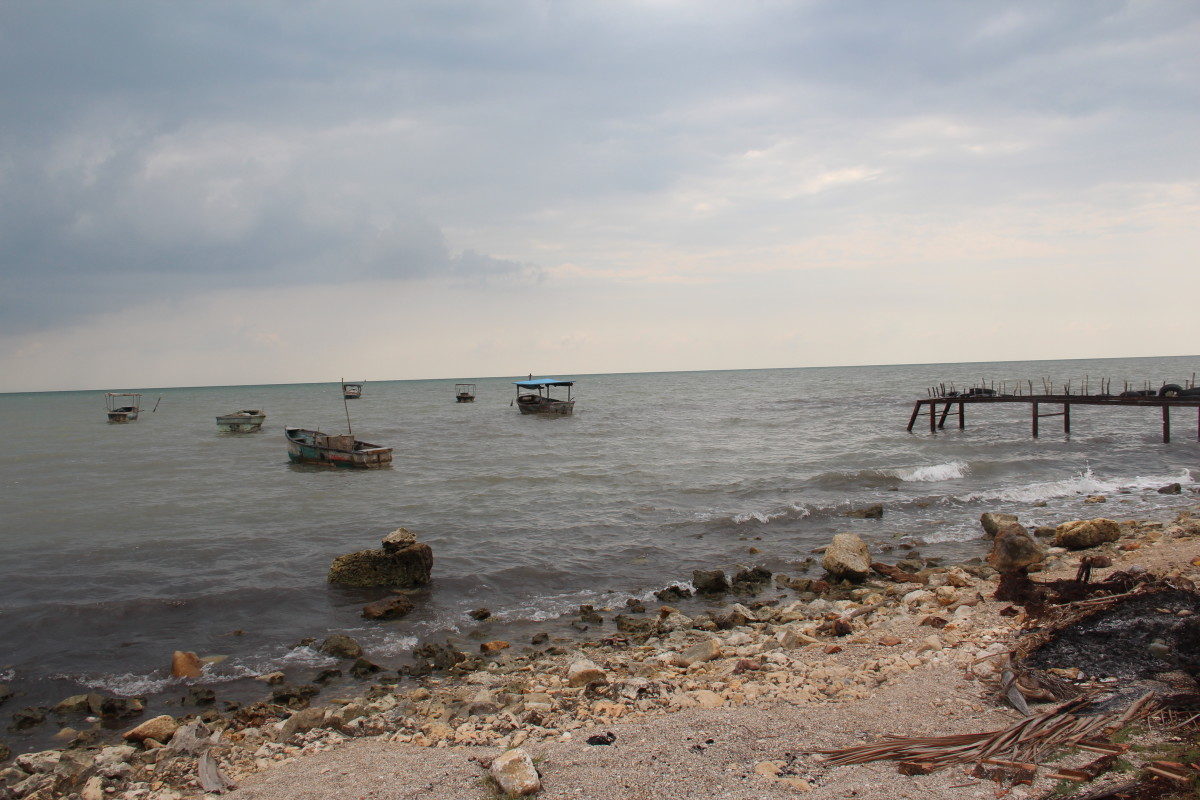 Fishing boats at Playa Rosario