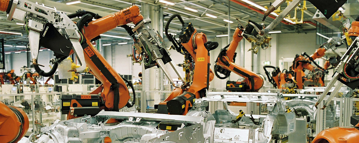 Inside a BMW plant in Leipzig, Germany, a country with more robots per capita but less unemployment than the United States. (Photo: BMW Werk Leipzig/Wikimedia Commons)