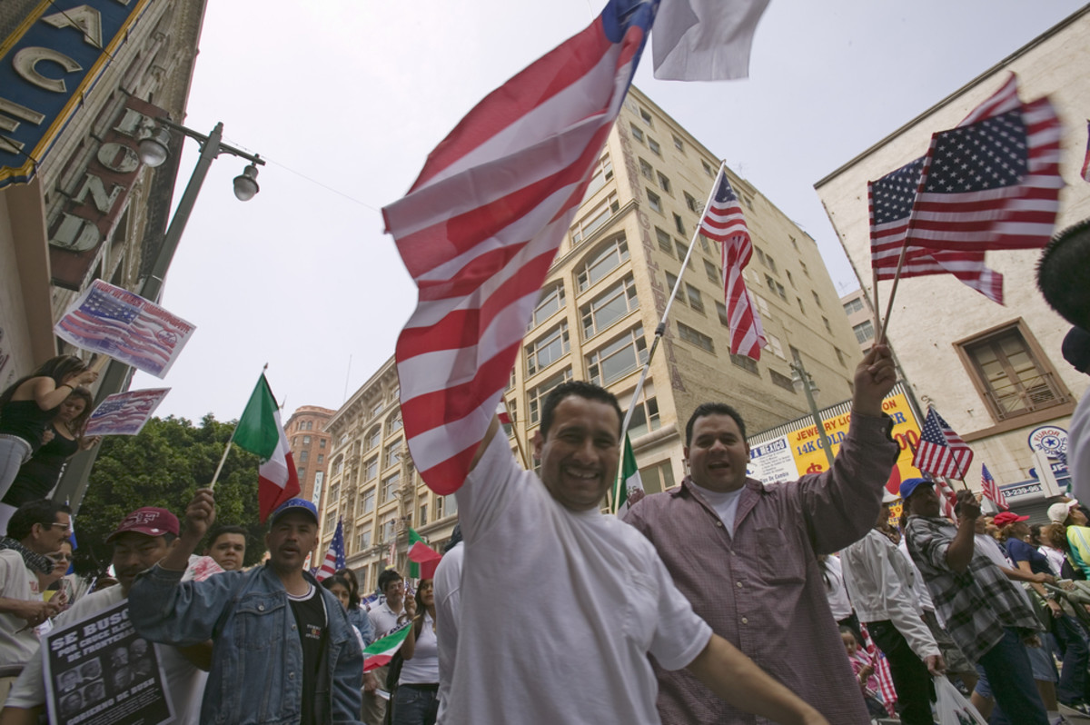 Hundreds of thousands participate in a march protesting illegal immigration reform by Congress. (Photo: Joseph Sohm/Shutterstock)