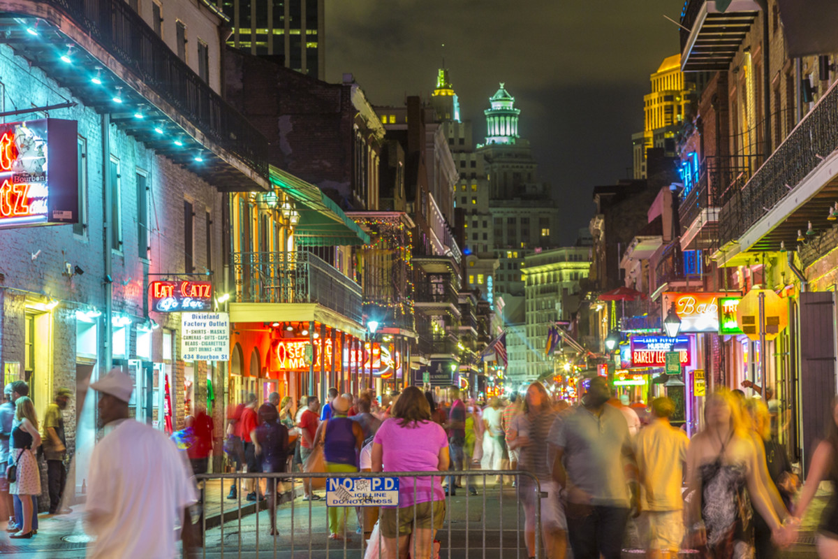 Neon lights in the French Quarter in New Orleans. (Photo: Jorg Hackemann/Shutterstock)