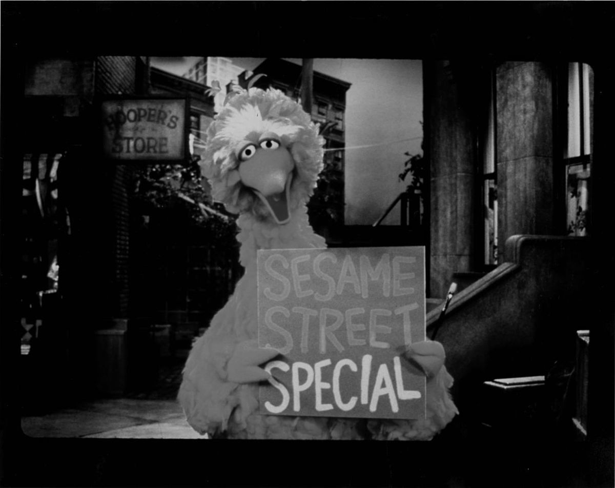 A photograph of Big Bird in Sesame Street. (Photo: University of Houston Libraries/Wikimedia Commons)