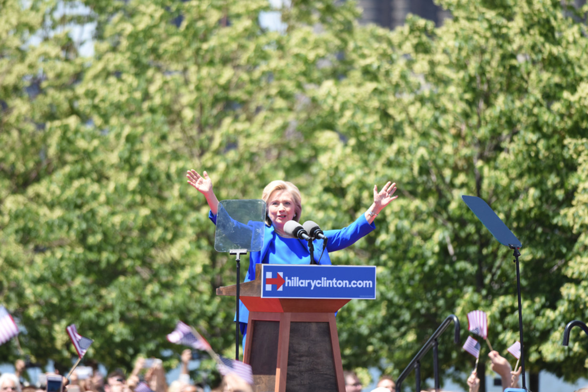 Former Secretary of State Hillary Clinton formally  announced her intention to seek the 2016 Democratic nomination for  president during a rally on Roosevelt Island. (Photo: a katz/Shutterstock)
