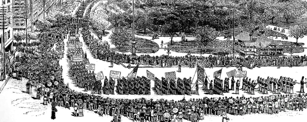 Labor Day parade in New York's Union Square, 1882. (Photo: Public Domain)