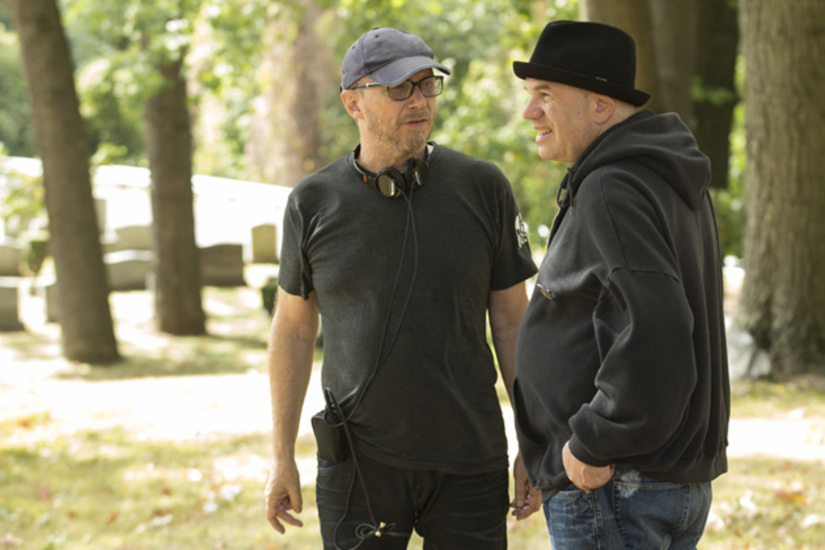 Paul Haggis and David Simon. (Photo: Paul Schiraldi/HBO)
