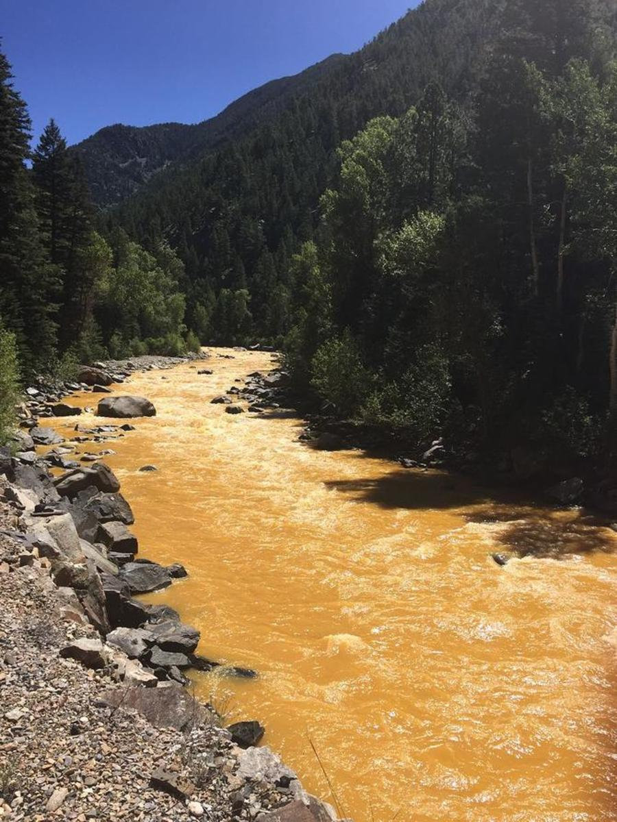 The Animas River between Silverton and Durango, Colorado, on August 6th. (Photo: Riverhugger/Wikimedia Commons)
