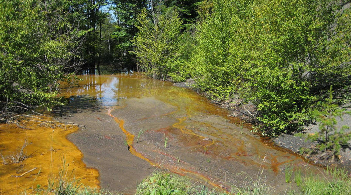 A Pennsylvania stream discolored by acid mine drainage. (Photo: Penn State)