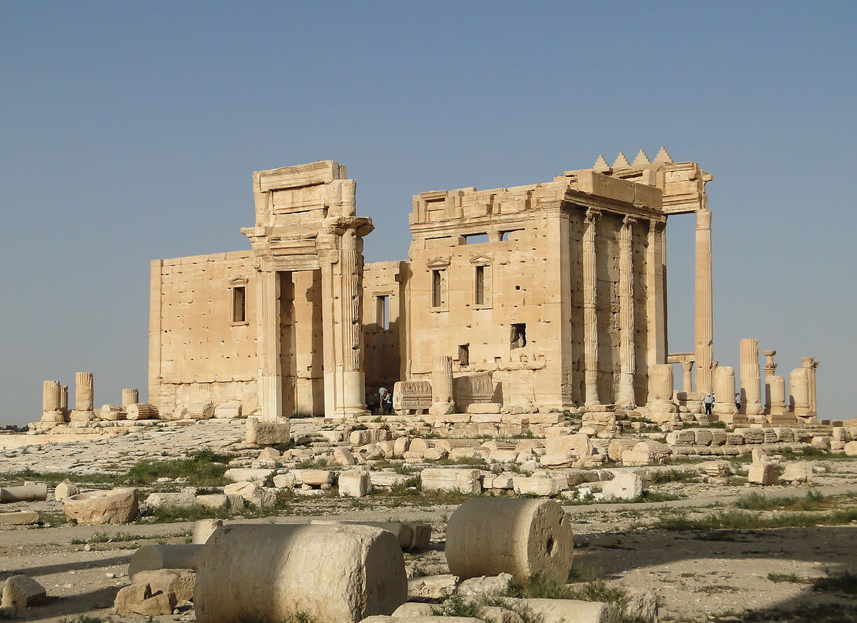 The Temple of Bel in Palmyra, Syria. (Photo: Bernard Gagnon/Wikimedia Commons)