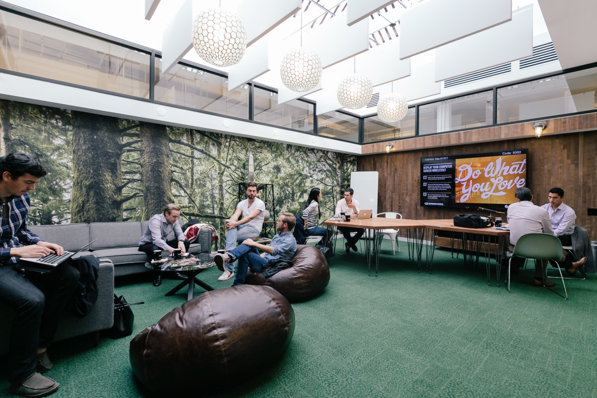 WeWork's West Broadway Lounge, in New York City. (Photo: WeWork)
