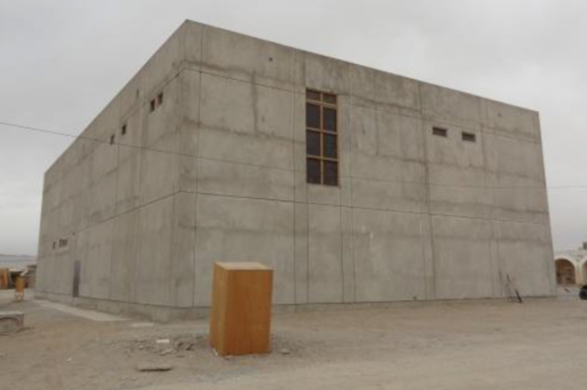 The unfinished headquarters for a Special Forces base in Kandahar, Afghanistan. (Photo: Courtesy of SIGAR)