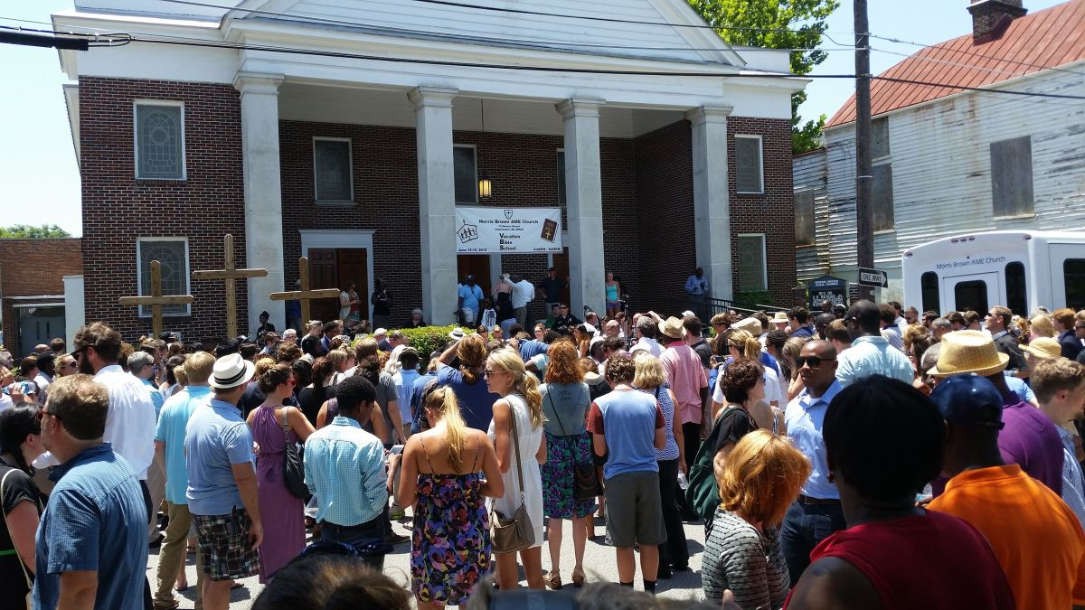 A prayer vigil at Morris Brown African Methodist Episcopal Church. (Photo: Nomader/Wikimedia Commons)