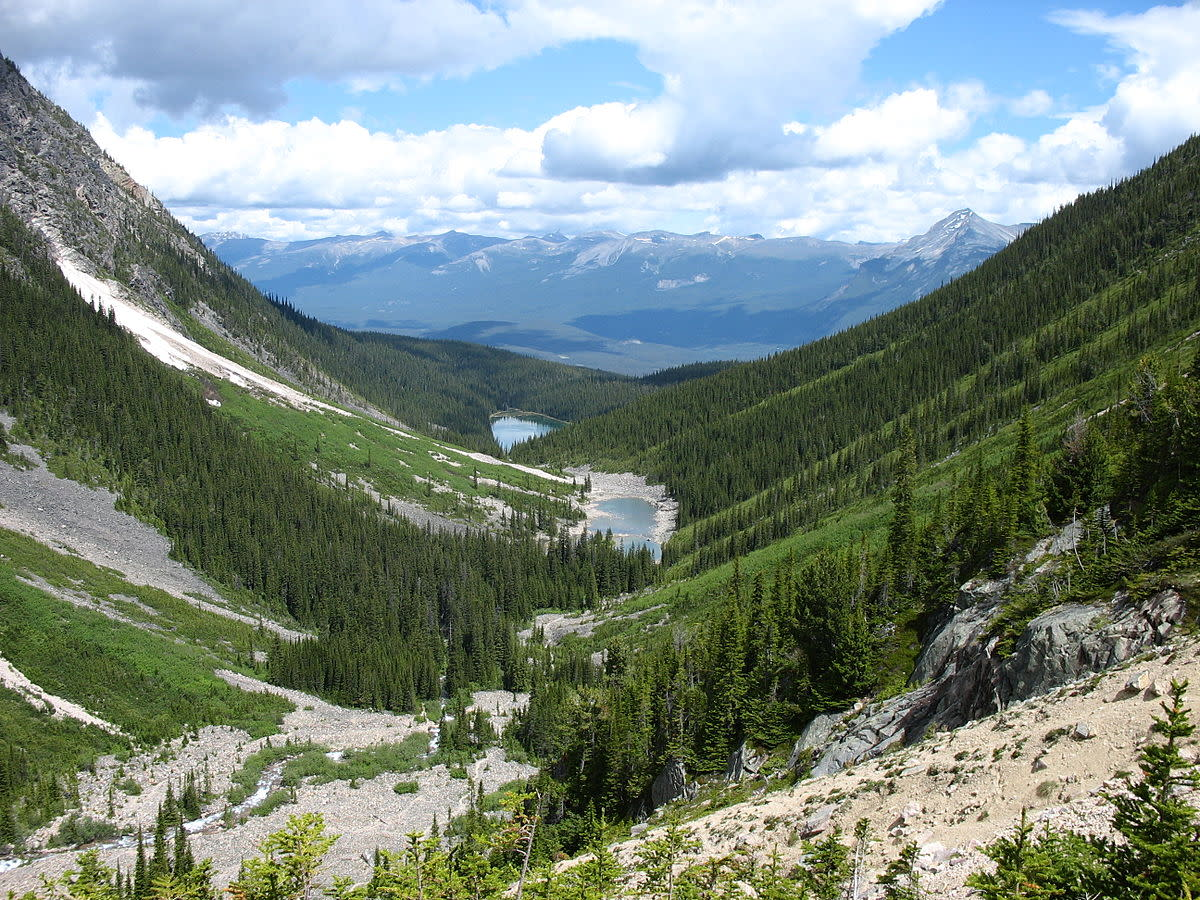 Athabasca River Valley, as seen from the Geraldine Lakes. (Photo: Eriklizee/Wikimedia Commons)