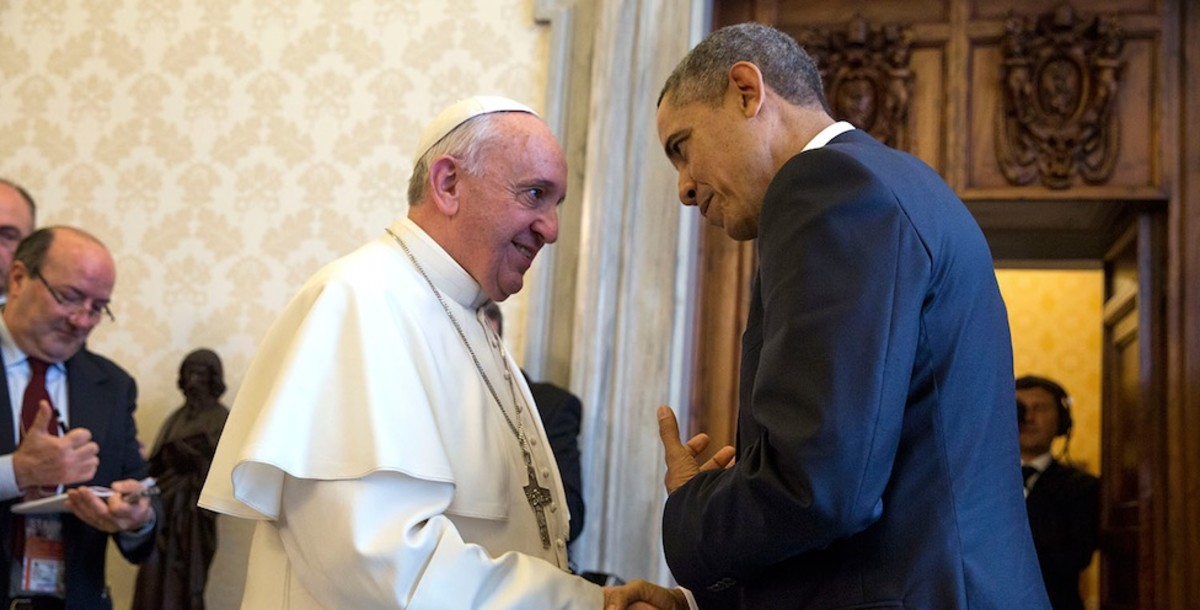 Pope Francis and President Barack Obama, probably conspiring about their respective Communist plots. (Photo: White House)