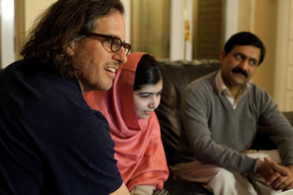 Davis Guggenheim filming He Named Me Malala in Birmingham, England. (Photo: Fox Searchlight Pictures)