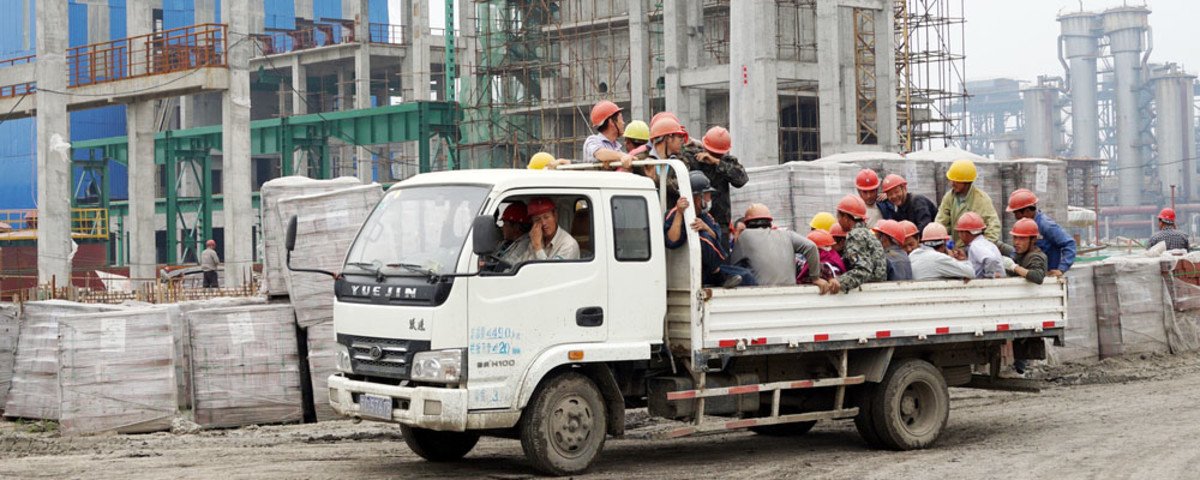 Migrant workers in Anhui, Huaibei, China, on May 17, 2015. (Photo: zhaoliang70/Shutterstock)