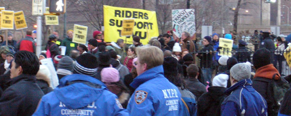 New York City transit strike. (Photo: Liftarn/Wikimedia Commons)