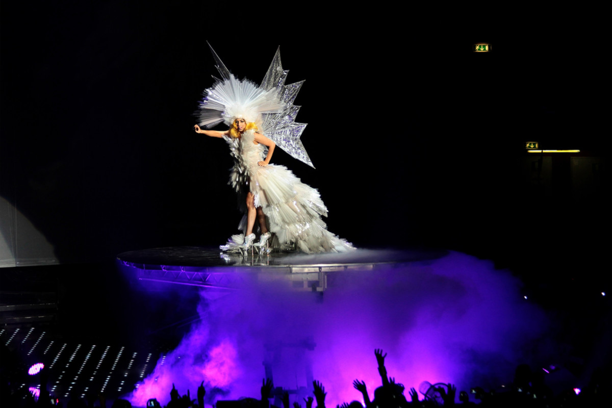Lady Gaga performing in Milan in 2010. (Photo: Matteo Chinellato/Shutterstock)