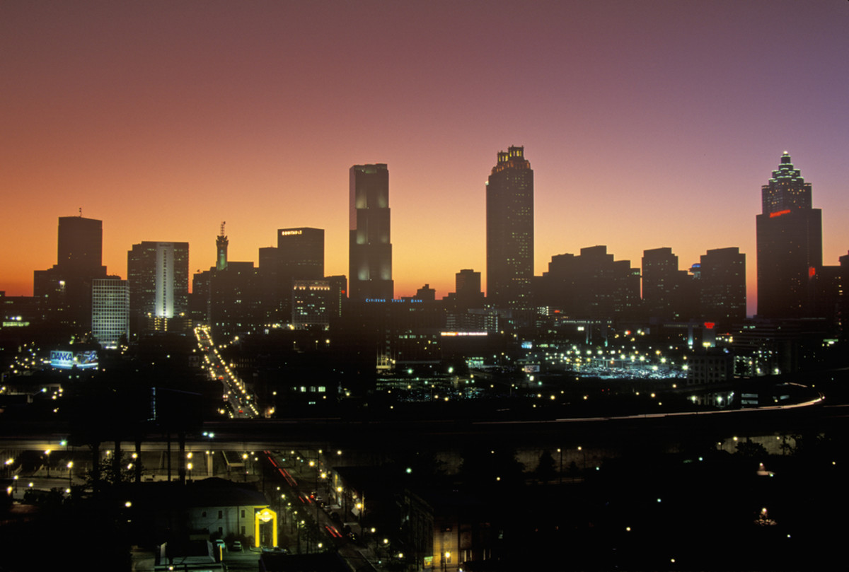 Atlanta, Georgia, at night. (Photo: Joseph Sohm/Shutterstock)