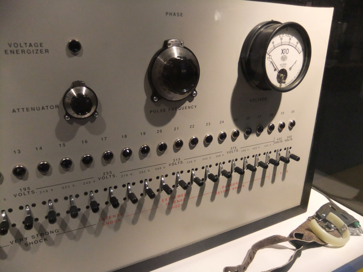 Stanley Milgram's electric box. (Photo: Isabelle/Flickr)
