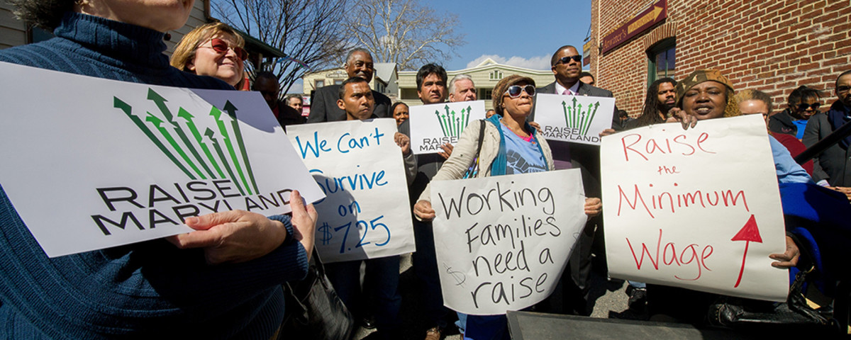 Minimum wage rally in Catonsville, Maryland. (Photo: Maryland GovPics/Flickr)