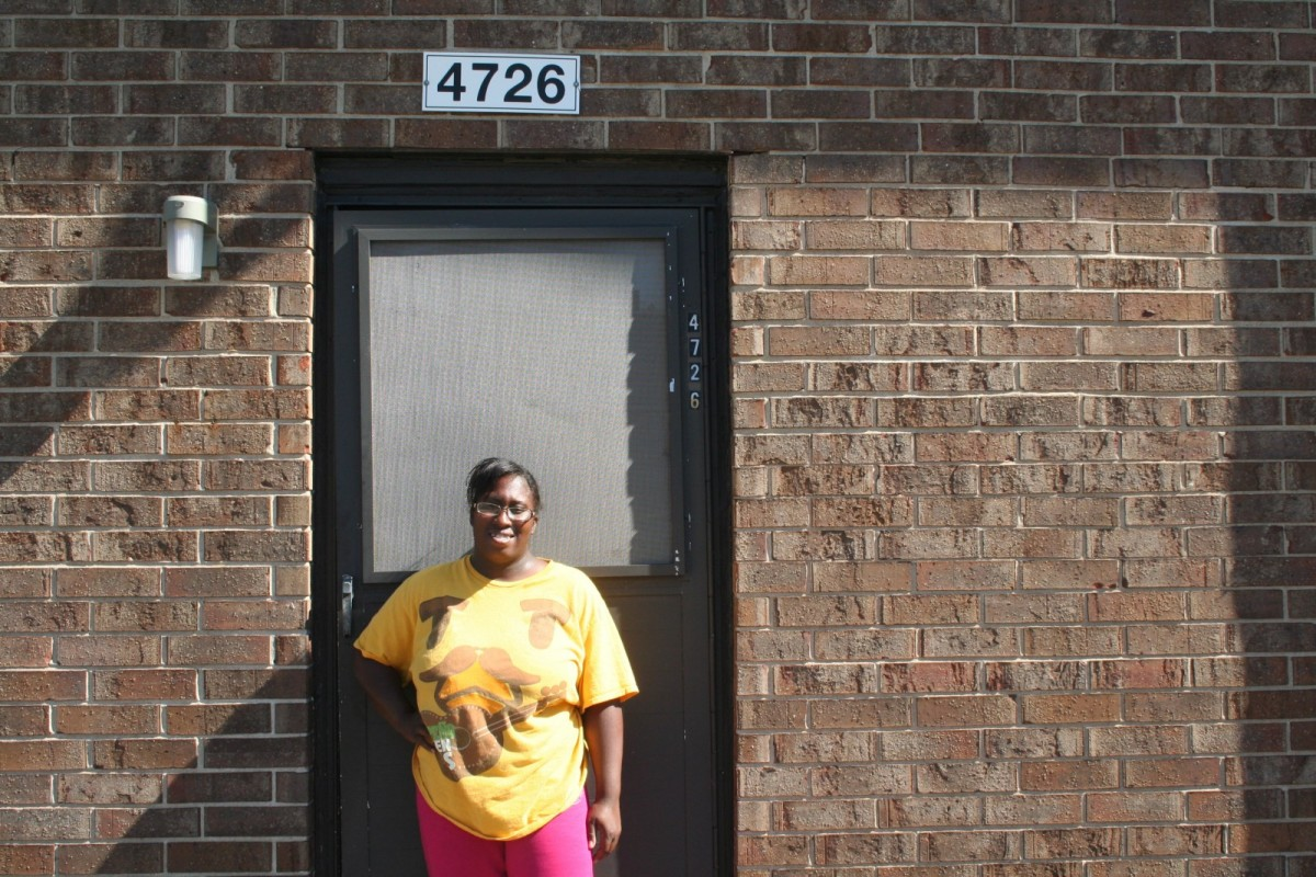 "Nayesa Walker must leave her home in Calumet because of lead contamination in the area. ""I want to move to a safe environment for my kids,"" she says."