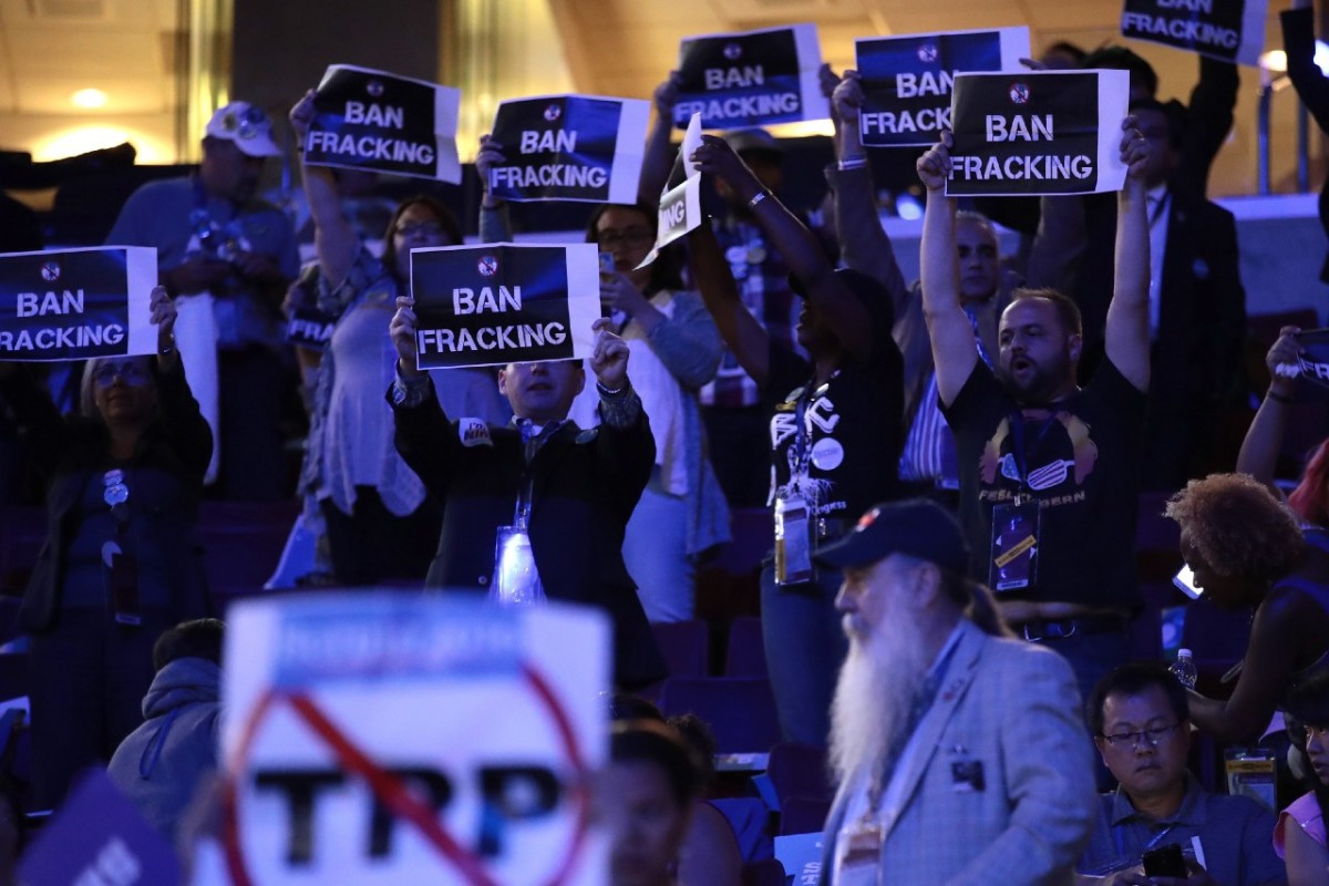 Are these anti-fracking protestors in the pay of Vladimir Putin? No. No, they're not.