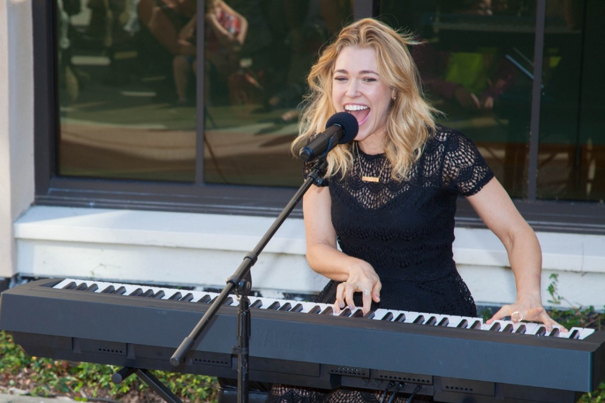 Rachel Platten performs at MacDill Air Force Base in Tampa, Florida, in 2015.