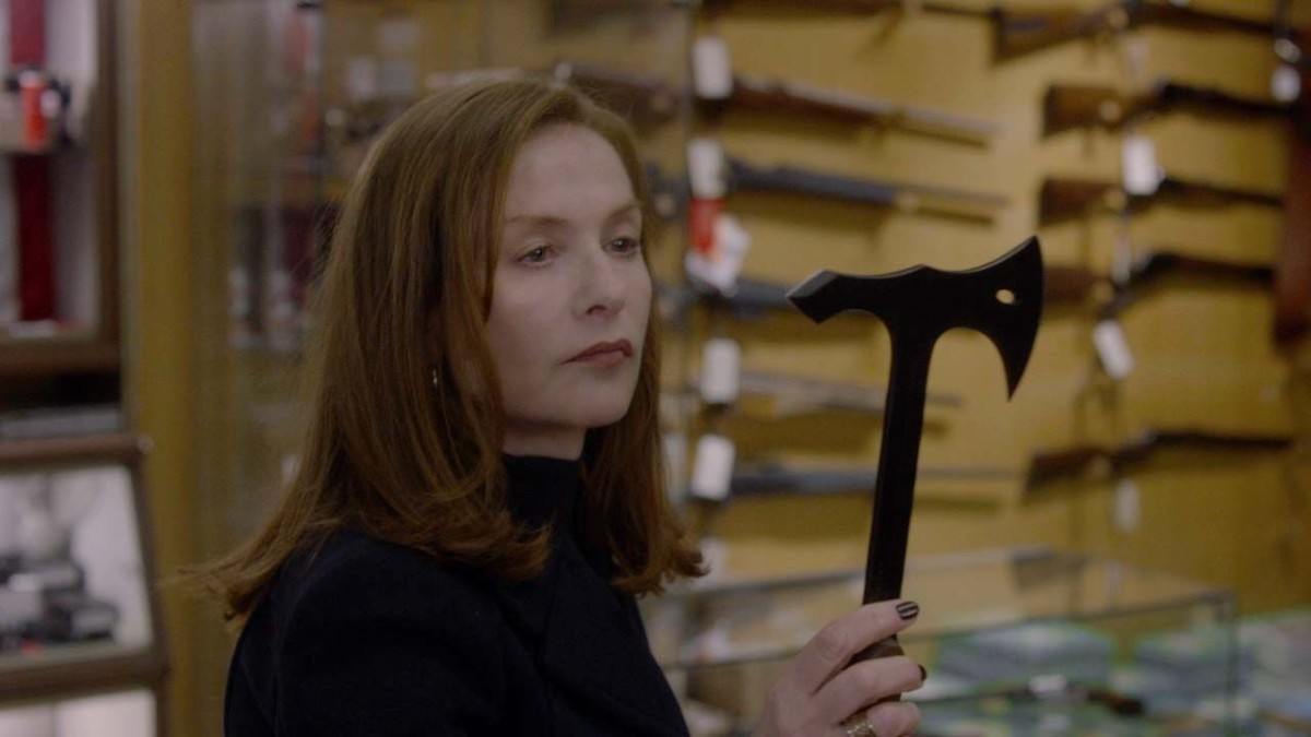In Elle, Isabelle Huppert plays Michèle, a woman who embarks upon a cat-and-mouse game with her rapist.