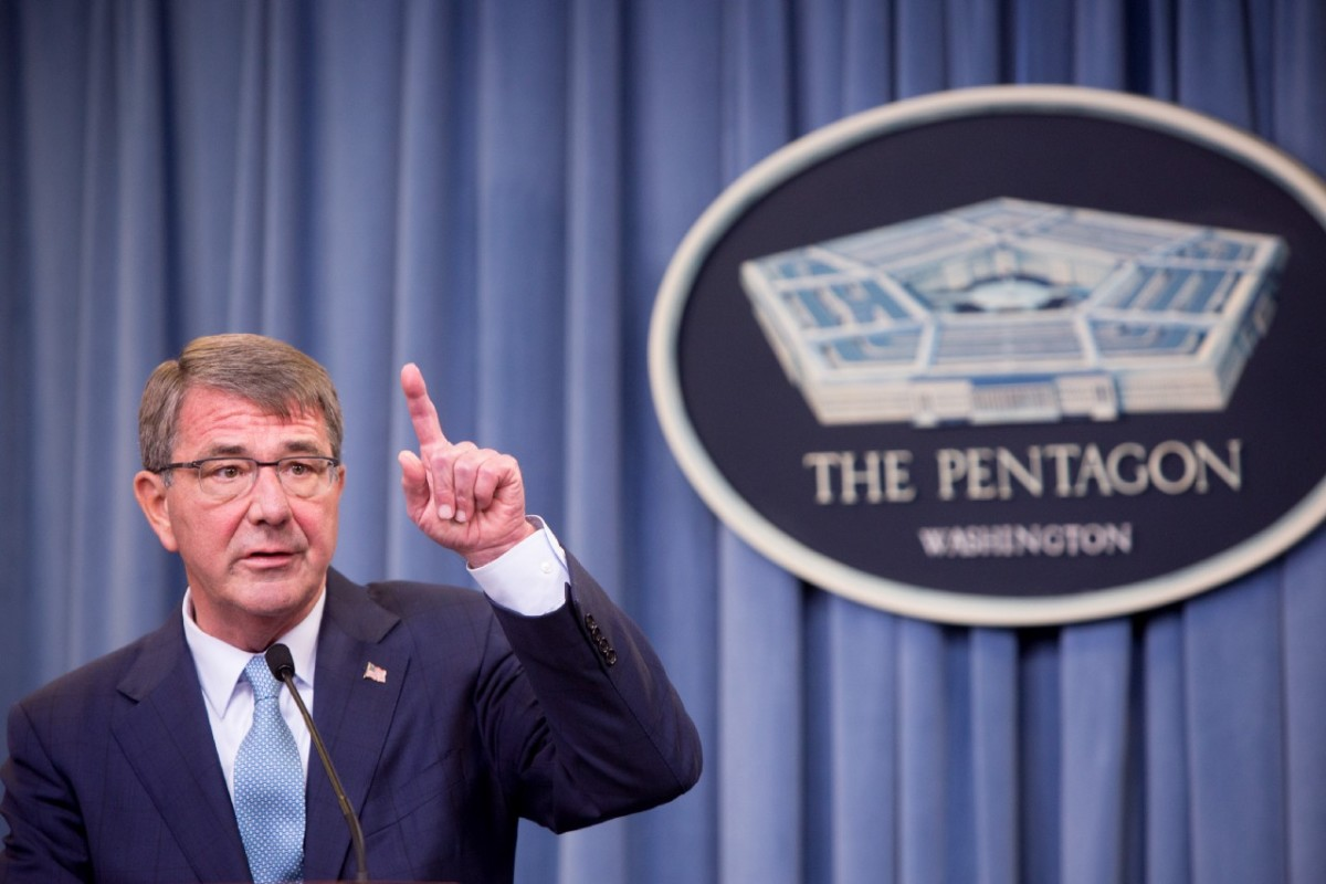 Secretary of Defense Ash Carter speaks during a press conference on June 30th, 2016, at the Pentagon in Arlington, Virginia.