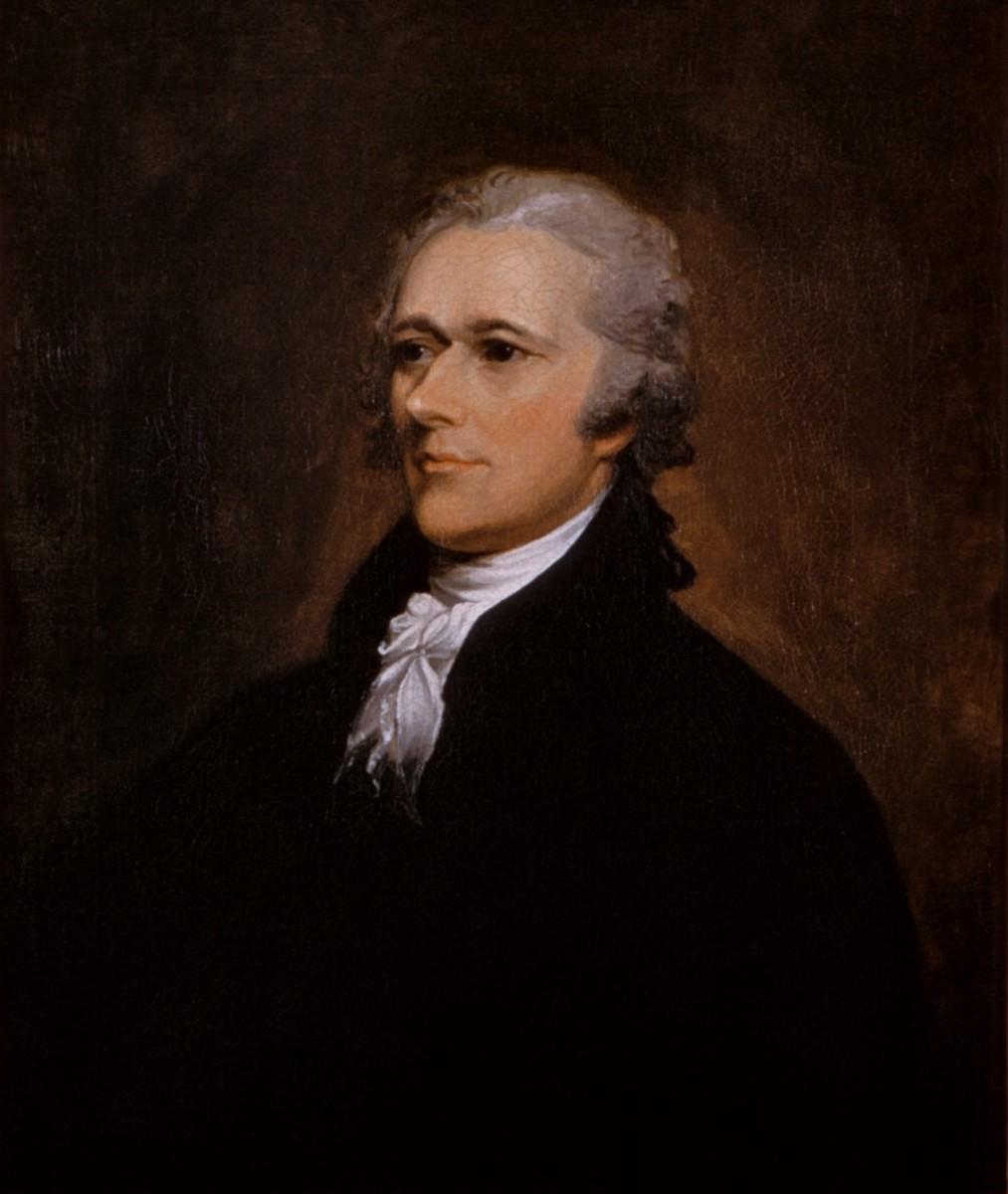 Portrait of Alexander Hamilton.